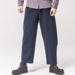 New Mens Cotton Linen National Style Fold Loose Casual Pants