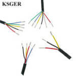 New KSGER Silicone Wire Cable Tinned Copper T12 Soldering Iron Station High Temperature Soft Jacket