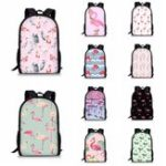 New Flamingo Backpack Student Travel School College Shoulder Bag Handbag Camping Rucksack