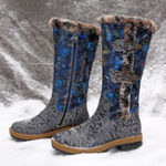 New SOCOFY Leather Winter Lining Warm Zipper Boots