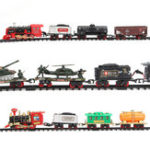 New Electric Rechargeable Steam Vapor Train Model Truck Car Track Toys Remote Suit