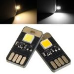 New DC5V 0.6W Mini Touch Dimming Switch USB Mobile Power Camping LED Rigid Strip Light Night Lamp