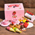 New Wooden Kitchen Pretend Play Toy Doll House Accessories Sweet Princes Ice Cream Cooking Puzzle