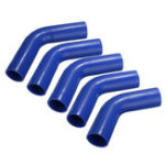 New Auto Silicone Hose Rubber 60 Degree Elbow Bend Hose Air Water Coolant Joiner Pipe Tube