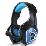New V1 3.5mm RGB Lighting Wired Control Gaming Headphone Stereo Noise Cancelling for PS4 Xbox With Mic