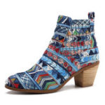 New SOCOFY Bohemian Pattern Elastic Band Boots