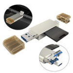 New Universal Metal Type-c Micro USB OTG USB 3.0 Memory TF SD Card Reader for Mobile Phone Tablet PC