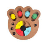 New Wooden Paw Bone Shape Pet Dog Cat Feeding Toy Board Funny Training Board Pet Toys