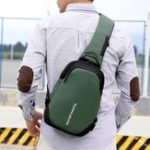 New Men Oxford Casual Sling Chest Bag Crossbody Bag