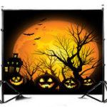 New 7x5FT Dusk Black Pumpkin Lamp Theme Photography Backdrop Studio Prop Background