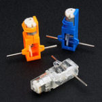 New 1:28 Transparent/Blue/Orange Hexagonal Axis 130 Motor Gearbox for DIY Chassis Car Model