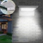 New 20 LED Waterproof Solar Powered Sensor Flood Light Outdoor Garden Security Wall Lamp