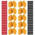New 10 Pair URUAV XT60 Male Female Bullet Connectors Power Plugs with Heat Shrink Tube for Lipo Battery