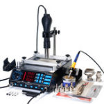 New YIHUA 853AAA 3 In 1 Preheating Station Infrared BGA Rework Soldering Station Hot Air Heater 60W Tin Soldering Iron