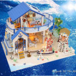 New DIY Hoomeda Legend Of The Blue Sea DIY Doll House Miniature Model With Light Music Collection G