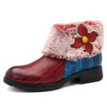 New SOCOFY Winter Keep Warm Leather Boots