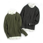 New Casual Solid Color O-Neck Collar Pullovers