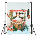 New 5x7FT Christmas Candy Canes Photography Backdrop Background Studio Prop