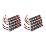 New 10Pcs URUAV 3.8V 300mAh 40/80C 1S HV 4.35V PH2.0 Lipo Battery for Eachine TRASHCAN Snapper6 7 8 US65