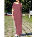 New Cold Shoulder Solid Casual Loose Wide Leg Jumpsuit