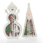 New Festival Wooden LED Christmas Light Display Ornament for Christmas Home Table Decorations