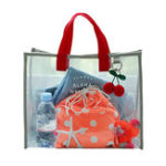 New Women Transparent PVC Handbag Shoulder Bag Totes Shopping Bag Clear Beach Bags