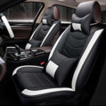 New 8Pcs PU Leather Car Full Surround Seat Cover Cushion Protector Set Universal for 5 Seats Car