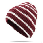 New Unisex Thickened Stripes Knitted Hat Fashion Knit Beanie Cap