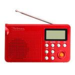 New Pobnze KK-F163 LED Flashlight Radio Elderly Dual Band Charging Card Radio MP3 Player