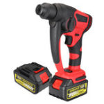 New 88V 800W Brushless Cordless Impact Drill 10000mAhElectric Hammer Drill W/ 2 Li-Ion Batteries