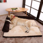 New Luxury Corduroy Bolster Pet Dog Sofa Bed Puppy Fleece Bed Mat for Large Dog Pet Bed