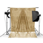 New 4x6FT Gold Shimmer Sequin Photography Backdrop Studio Prop Background