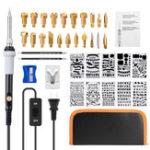 New 39 Pcs Temperature Adjustable Pyrography Pen Wood Burning Pyrography kit Soldering Tools
