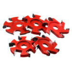 New 75-100mm Diameter 16mm Bore Red Hexagonal Blade Power Wood Carving Disc Angle Grinder Attachment