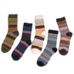 New Mens Winter Ethnic Pattern Middle Tube Five Pairs Of Socks