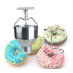 New Manual Donut Depositor Medu Vada Dropper Plunger Dough Cake Batter Dispenser Hopper