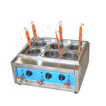 New Commercial 4kw/6kw Table Top 4/6 Baskets Electric Noodles Cooker/Pasta Cooking Machine