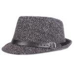 New Mens Retro Warm Adjustable Top Hat Spots Jazz Cap