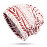 New Unisex Geometric Pattern Print Headscarf Multi-purpose Hat