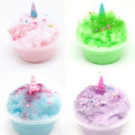 New 60ML Slime Brushed Mud Unicorn  Crystal Clay Decompression Plasticine Toys