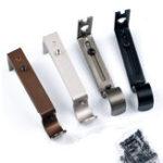 New Adjustable Iron Heavy Duty Wall Curtain Rod Pole Brackets Holder Drape Rod With Screw
