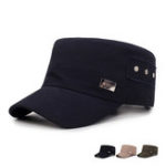 New Mens Vintage Pure Cotton Flat Hat Outdoor Sports Cap