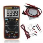 New ANENG AN8009 True RMS NCV Digital Multimeter 9999 Counts Backlight AC/DC Current Voltage Resistance Frequency Capacitance Temperature Tester ℃/℉ Color Orange