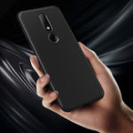 New Bakeey™ Carbon Fiber Shockproof Soft TPU Back Cover Protective Case for Nokia X6 6.1 Plus