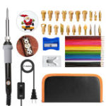 New 45Pcs Wood Burning Tools Kit Pyrography Pen for Pyrography Creation Soldering Carving Embossing