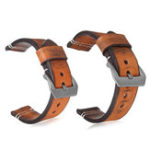 New 22 24mm Leather Wrist Watch Band
