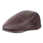 New Unisex Mens First Layer Cowhide Gatsby Beret Hat Newsboy Cap