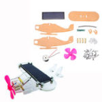 New DIY Solar Aircraft Fan Solar Power Aircraft Kit Primary Learning Kit for Arduino