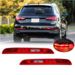 New Rear Left/ Right Car Side Lower Bumper Tail Light Lamp Red for AUDI Q3 2011-2014