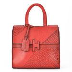 New Microfiber Leather Crocodile Pattern Handbag Crossbody Bag